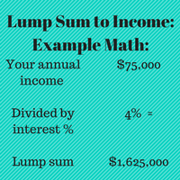 How much life insurance do you need? Life insurance lump sum income forever method